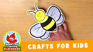 bee craft for kids maple leaf learning playhouse youtube