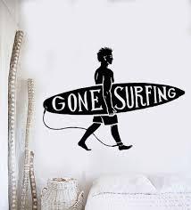 online get cheap surf wall murals aliexpress com alibaba group new sport series wall decal surfing guy surf beach surfer wall sticker vinyl art design wall mural home bedroom decoration la029