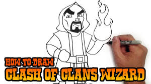 how to draw wizard clash of clans youtube