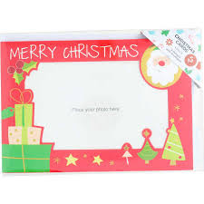christmas card photo frame 5 pack red big w