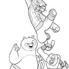 po amazing kick kung fu panda coloring po amazing kick