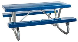 Picnic Table Frame Picnic Table 8 Foot Rectangular Fiberglass Galvanized Steel A