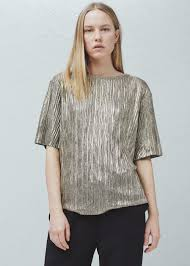 metallic blouse metallic blouse mango united kingdom