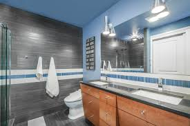 bathroom gorgeous light blue bathroom ideas with wood vanity and