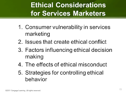 ethical issues in marketing the service sector supersectors and ethical considerations ppt