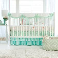 mint ombre baby bedding peach and mint baby bedding mint crib