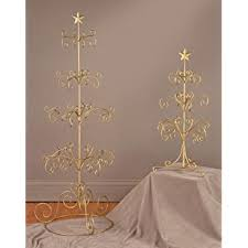 gold finish 12 arm ornament tree removable top home
