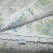simply shabby chic blue patchwork garden stripe twin set quilt