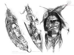 indian tribal tattoos pattern