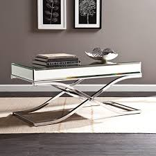 cheap mirrored coffee table mirrored coffee table amazon com