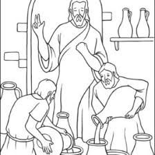 coloring pages jesus miracle archives mente beta