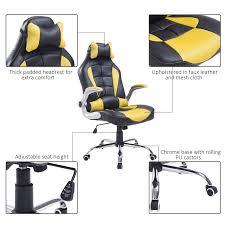 aosom homcom racing style executive gaming office chair