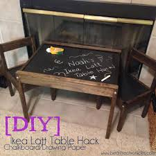 ikea latt table hack chalkboard paint and drawing paper diy