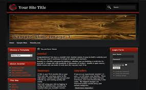 black red wooden free joomla theme template free css templates