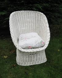 classic shaped white wicker chair unique pieces of furniture