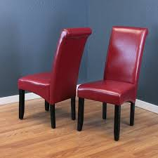 Red Dining Chair Milan Faux Leather Red Dining Chairs Set Of 2 Free Shipping