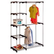 honey can do freestanding wardrobe closet silver black target
