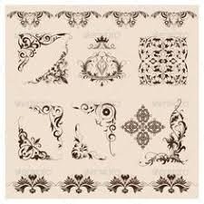 stock illustrations of vector damask ornament set k5307840