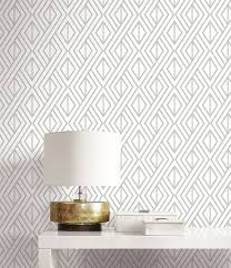 marquis diamond geometric wallpaper gold u0026 white amazon com