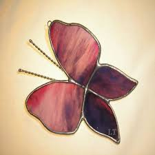 stained glass butterfly l lt stained glass 3d butterfly sun catcher light catcher rose lilac