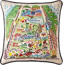 Handmade In New York - catstudio handmade central park new york geography pillow