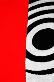 Red White And Black Rug Red White Black Living Room Area Rugs Geometric Machine Made