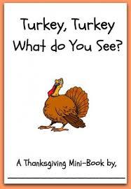 free printable mini book turkey turkey what do you see http
