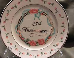 25th anniversary plate 25 anniversary plate etsy