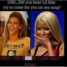 Nicki Minaj Meme - lil kim nicki minaj beef