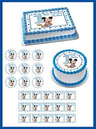 baby mickey 1st birthday baby mickey mouse 1st birthday edible cake topper cupcake toppers