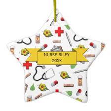 Nurse Christmas Ornament - custom graduation ceramic ornament zazzle com