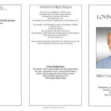 Funeral Programs Order Of Service Black And White Funeral Program Template With Poem And Praying