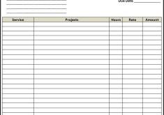 rental invoice template excel free invoice