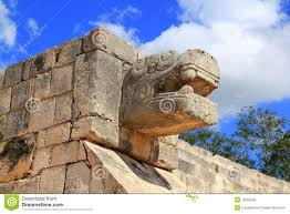 Mayan Ruins Mexico Map by Chichen Itza Snake Mayan Ruins Mexico Yucatan Royalty Free Stock