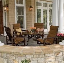 Tropitone Fire Pit by Lakeside Padded Sling Patio Furniture By Tropitone