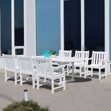 wood patio furniture white extendable patio dining furniture