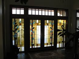wooden and glass doors double wooden door with stained glass exterior doors ideas