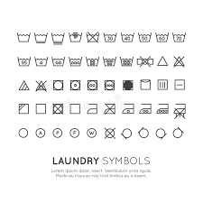 laundry line design the symbols on the labels of clothes washing wringing drying