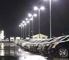 Led Parking Lot Lights Brightest Led Parking Lot Fixture In The Usa Synergy Electric