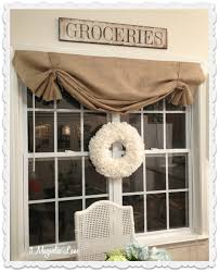 Kitchen Curtain Patterns Inspiration Tutorial How To Make A No Sew Diy Burlap Window Valance Food