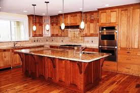 cherry wood kitchen island lighter cherry finish kitchen cabinets railing stairs and