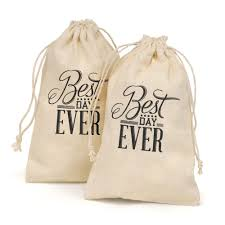 personalized wedding favor bags best day cotton favor bags invitations by