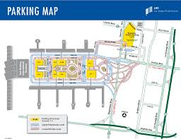 Alaska Airlines Map by Lax Terminals Airline And Parking Map For Los Angeles Airport