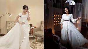 wedding dress nagita slavina adu gaya nagita slavina ayu ting ting modis siapa viva