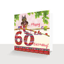 60 Birthday Cards 60th Birthday Card Oakley Owl Knitting Hand Finished Unique
