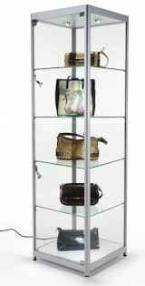 Glass Shelves Cabinet Floor Curio Cabinets Foter