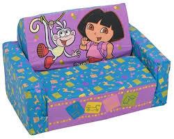 mickey mouse clubhouse flip open sofa with slumber amazon com dora the explorer flip open sofa with slumber bag baby