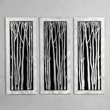 accent lighting for paintings silver birch graphic metal art wall decorations