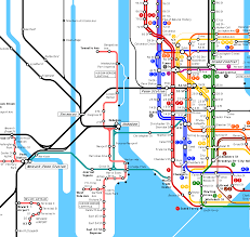 New York Submay Map by New Jersey Subway Map Online World Map