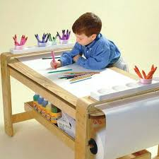 Drafting Table Wooden Childrens Drawing Table With Paper Roll Mdf Children Drawing Table